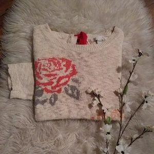 #62🔴Lauren Conrad Floral Sweater